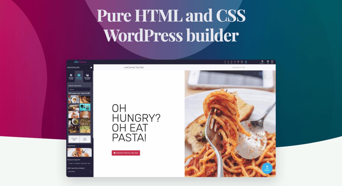 LiveCanvas: the best Bootstrap 4 WordPress Page Builder