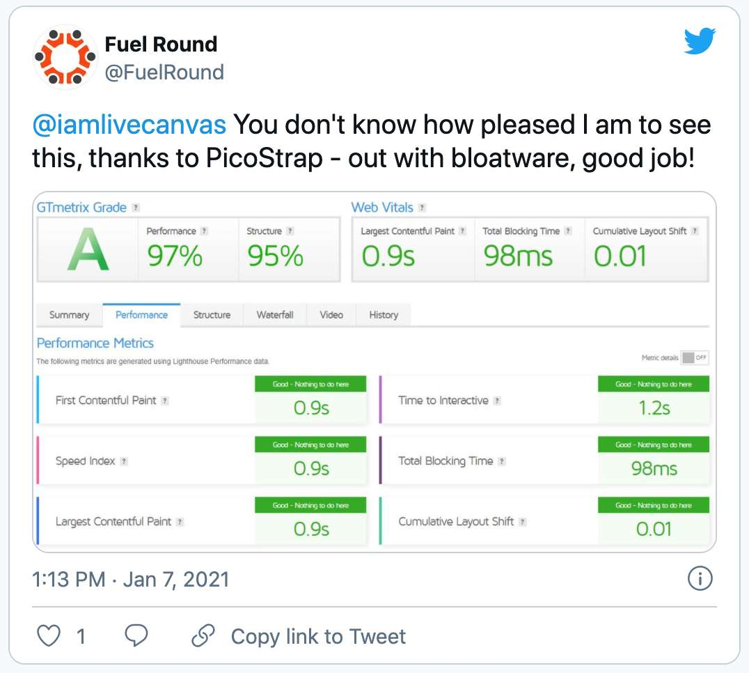twitter review of livecanvas plugin